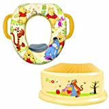 Disney Winnie the Pooh Potty Seat, Step Stool, Splash Guard and Potty Hook Bundle Set