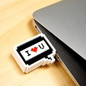 I LOVE YOU Dialogue Box MURMUR Collection 8GB Waterproof USB Flash Drive - comes with GadgetMe Stylus Pen