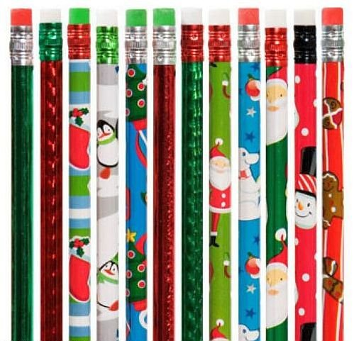 1 Dozen (12) Christmas Pencil Assortment - 1