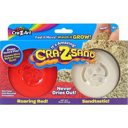 "Cra-Z-Sand 2 Pack Refill - ""Roaring Red!"" and ""Sandtastic!"" 16oz"