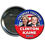 Hillary Clinton and Tim Kaine Round 2016 Campaign Button 4