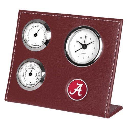 NCAA Alabama Crimson Tide Crimson Weather Clock