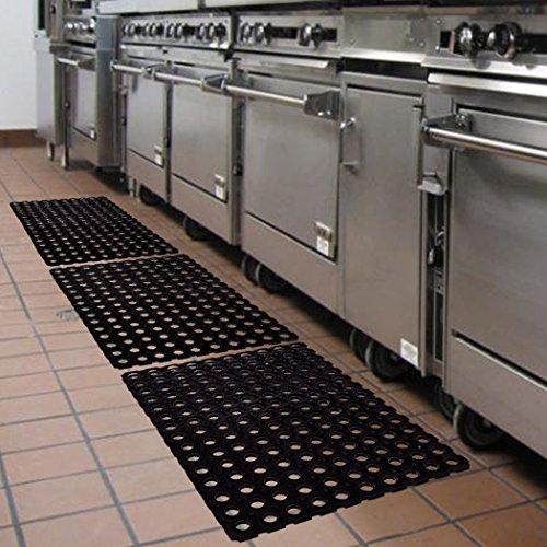 SafetyCare Heavy Duty Flexible Drainage Rubber Floor Mat Anti Fatigue Anti