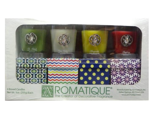 Aromatique Scented Candles 4 Pack