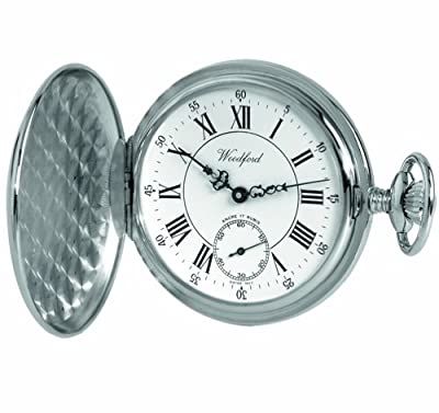 Woodford Pocket Watch 1012 Chrome Plated Full Hunter