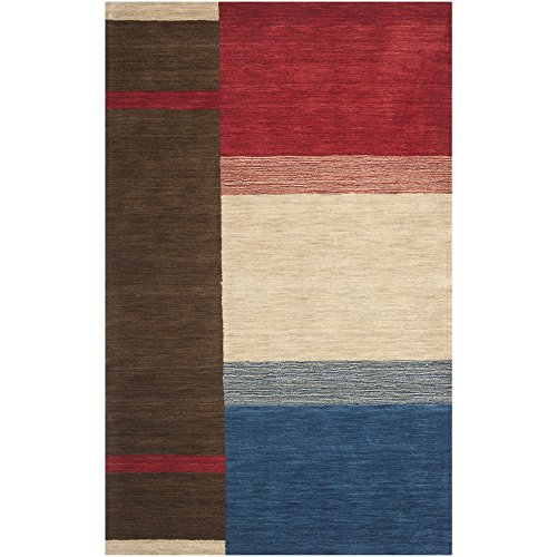 Safavieh Himalaya Collection HIM586A Handmade Brown and Multi Wool Area Rug, 3 feet by 5 feet (3' x 5')
