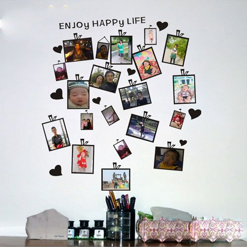 Colorfulhall Enjoy Happy Life Lettering Wall Decal Sticker Picture Frames Wall Murals front-868588