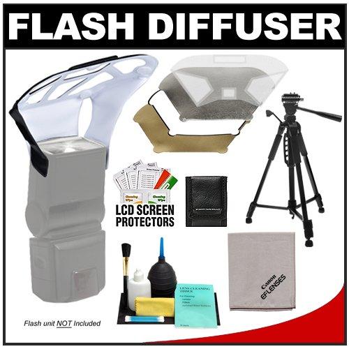 Zeikos Universal Flash Diffuser Bouncer  Interchangeable