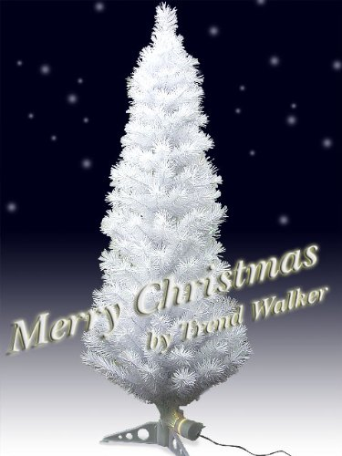 Xmas LEDファイバークリスマスツリー 高さ180cm ホワイト