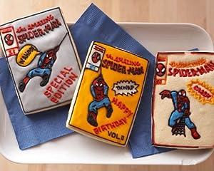 Marvel Comics Spider Man Comic Book Cookie Cutter Set