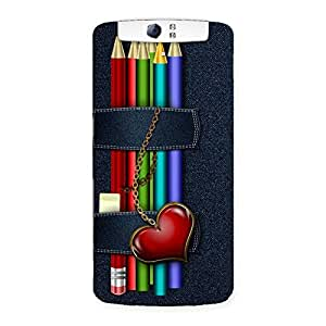Special Denim Pencil Print Back Case Cover for Oppo N1