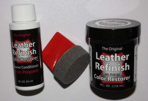Leather Repair Kit / Leather Color Kit / Cleaner / Color Restorer / Sponge Applicator (Leather Repair) (Vinyl Repair) (Leather Dye) (Scarlet Red) (Scarlet Red Dye compare prices)