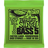 Ernie Ball Nickel Roundwound Slinky 5 String Regular 45-130 Bass String Set