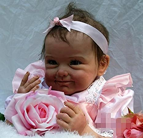 "55cm 22"" Poupées reborn dolls baby girl Newborn realistica bambola Baby Handmade Soft Silicone Gift"