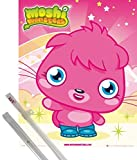 Poster + Hanger: Moshi Monsters Mini Poster (20x16 inches) Poppet and 1 set of 1art1® Poster Hangers
