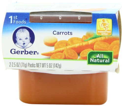 Save 4 59 Gerber 1st Foods Carrots 2 Count 2 5 Ounce