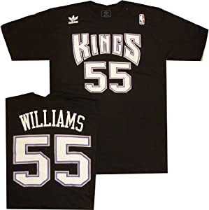 Sacramento Kings Jason Williams Adidas Throwback Vintage T Shirt by adidas