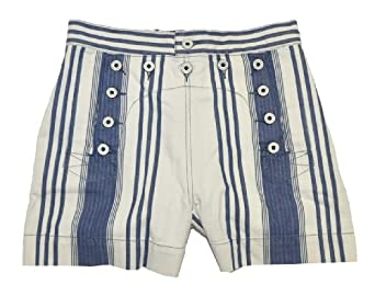 Rugby by Ralph Lauren Women Fashion Shorts (27, Off white/blue)