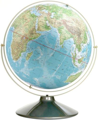 卓上地球儀 WA 地勢 スチール台