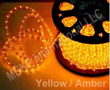 Yellow Led Rope Lights Auto Home Christmas Lighting 5 Meters(16.4 Feet)