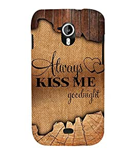 Always Kiss me Good Night 3D Hard Polycarbonate Designer Back Case Cover for Micromax Canvas HD A116 :: Micromax Canvas HD Plus A116Q