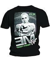 Official T Shirt EMINEM Black EM TV Television Screen Marshall All Sizes