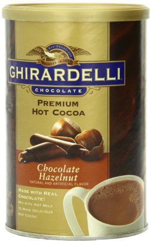 Ghirardelli Chocolate Premium Hot Cocoa Mix, Chocolate Hazelnut, 16-Ounce Cans (Pack of 4)