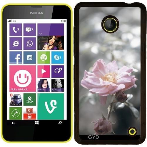 Custodia Nokia Lumia 630 - Rosa Rosa A Retroilluminazione Argento by UtArt