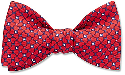 The Cheri, Red Pictorial bow tie, by Beau Ties Ltd of Vermont