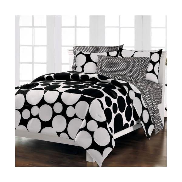 loft style spot the dot modern beddingnset black white