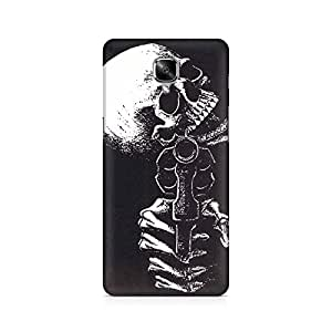 Mobicture Skeleton Love Premium Printed Case For OnePlus Three