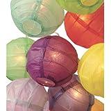"3.5"" D Multicolor Paper Lantern String Lights (set of 10) by Happy Sales"