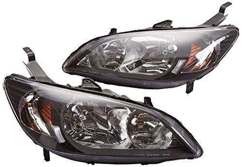 Spec-D Tuning 2LH-CV04JM-RS Honda Civic 2/4Dr Dx Lx Ex Crystal Jdm Black Headlights Lamps Pair (Honda Civic Lx Parts compare prices)