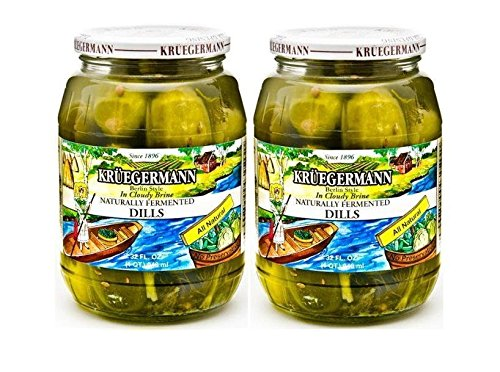 SHIPS FREE Get 2 (32 fl.oz.) Jars of Dill Pickles Naturally Fermented In Cloudy Brine (64 floz total) (Jar Of Dill Pickles compare prices)