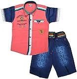 Kids Era Baby Boys' Half Sleeve Shirt And Shorts Set (3138pink, Pink, )