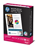 HP Copy/Laser/Inkjet 3-Hole Paper, 96 Brightness, 20 lb, Letter Size (8.5 x 11), White, 500 Sheets (11310-1)