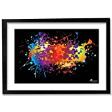 PICKYPOMP Abstract Art 2 Wall Poster Art - Laminated Framed 8x12 Inch