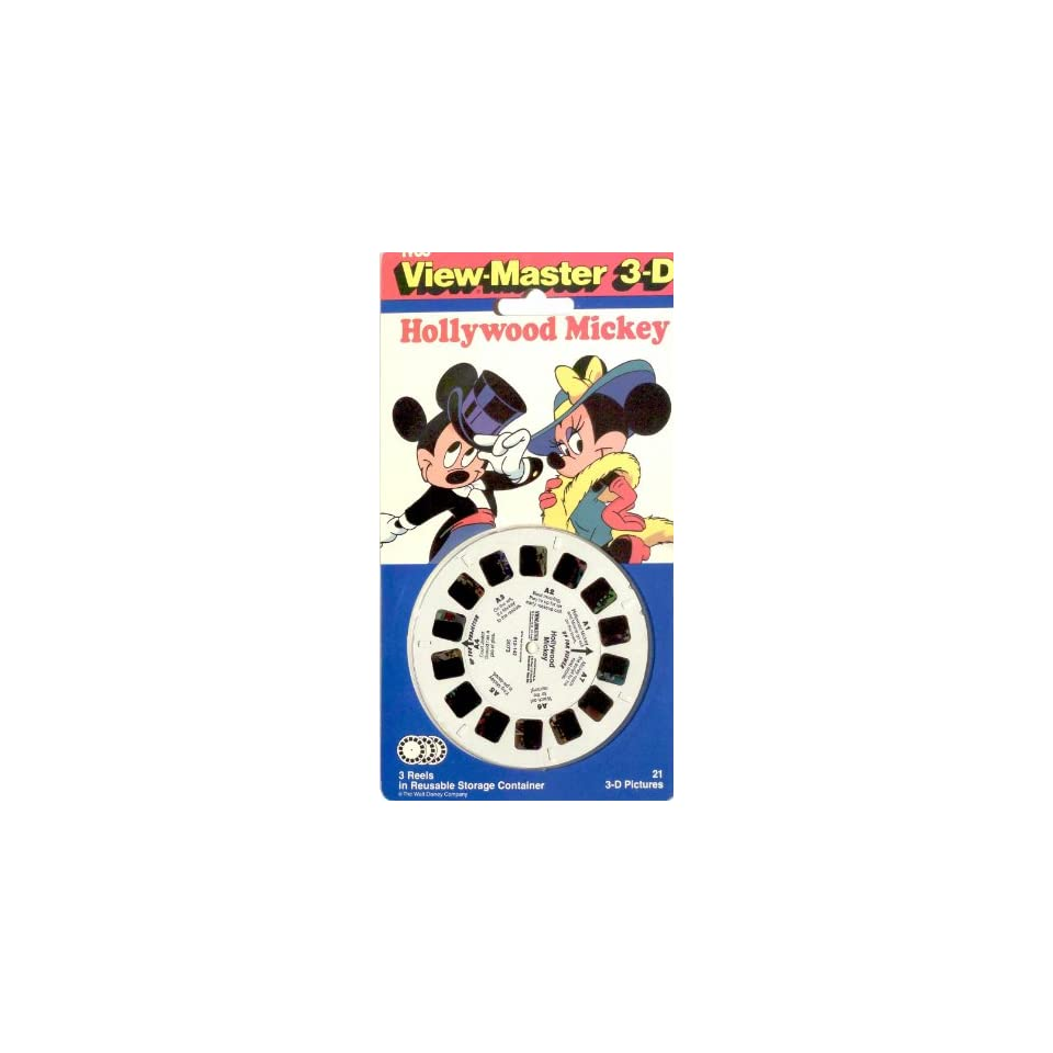 Hollywood Mickey View Master 3 Reel Set   21 3d Images   Disney