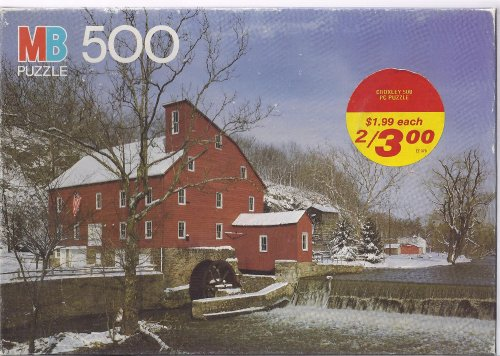 "Croxley ""Clinton Mill, Clinton, NJ"" 500 Pieces Puzzle, By MB Milton Bradley - 1"