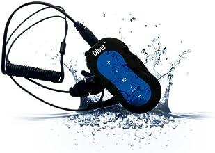 Diver (TM) Waterproof MP3 Player. 4 GB. Kit Includes Waterproof Earphones. NEW. (Blue)