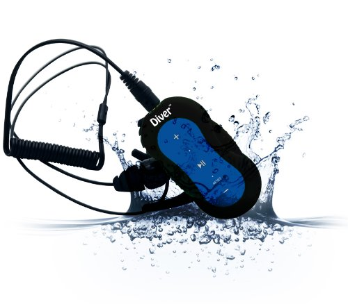 Diver (Tm) Waterproof Mp3 Player. 4 Gb. Kit Includes Waterproof Earphones. New. (Blue)