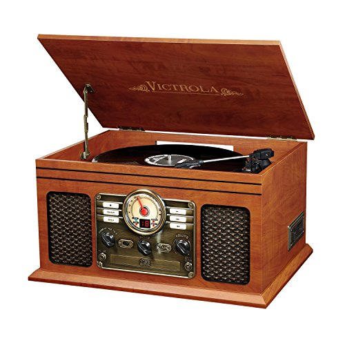 Victrola VTA-200B Nostalgic Classic 6-In-1 Turntable with Bluetooth, Mahogany (Victrola Turntable compare prices)