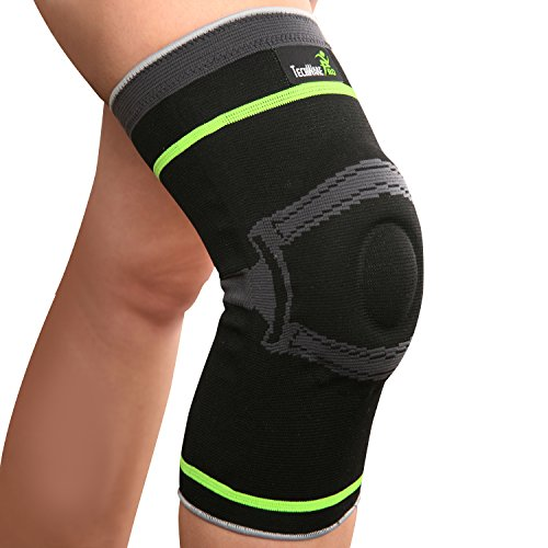 Tech Ware Pro Knee Compression Sleeve Support with Side Stabilizers & Patella Gel Pad for Arthritis, Joint Pain Relief & Injury Recovery. Non Slip Comfort for Sports, Running, Basketball. Single Pack (Walking Ware compare prices)