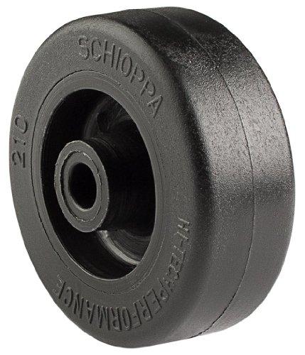 "Schioppa R.210 Nt-2"" Diameter X 3/4"" Width Nylon Wheel, Flat Tread, Wheel Only, 1/4"" Axle, Black front-343571"