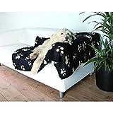 Bild: Trixie 37182 Fleecedecke Barney150x100 cm schwarz mit beigen Pfoten