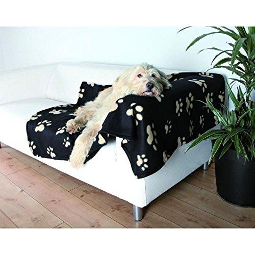 Bild von: Trixie 37182 Fleecedecke Barney,150x100 cm, schwarz mit beigen Pfoten
