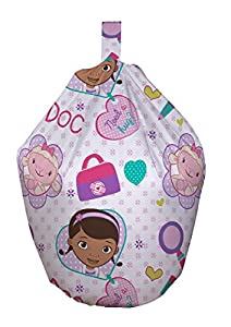 Disney Doc McStuffins Hugs Kids Pink Purple Seat Beanbag Bean Bag With Filling by Character World