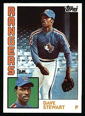 1984 Topps # 352 Dave Stewart Texas Rangers (Baseball Card) Dean's Cards 8 - NM/MT