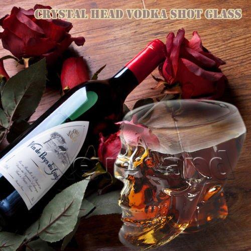rowzy (TM) du Pays Imaginaire Fashion 73ml crâne de cristal Head Vodka Verre à shot Bouteille potable tasse de bière cadeau de Noël