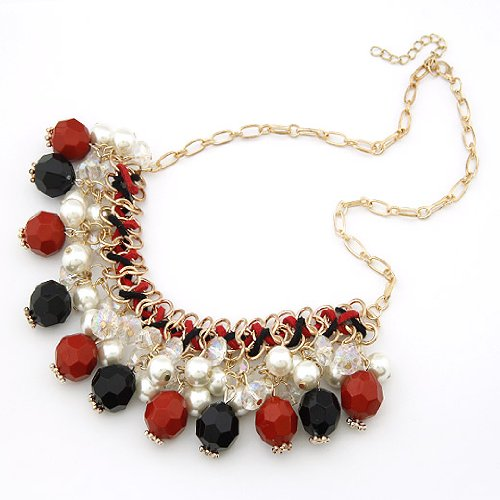 Bohemian Crystal Artificial Pearl Necklace